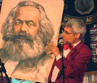 Ian with Karl Marx
